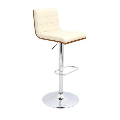 "LumiSource Vasari BS-JY-VSR WL 36"" - 40"" Barstool with 360 Degree Swivel, Adjustable Height and Chrome Base in"