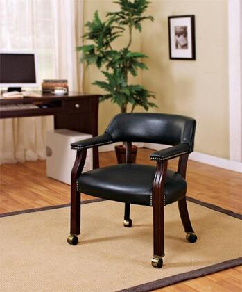 Coaster 515 Vinyl Guest Chair with Mahogany Wood Legs by Coaster Co.