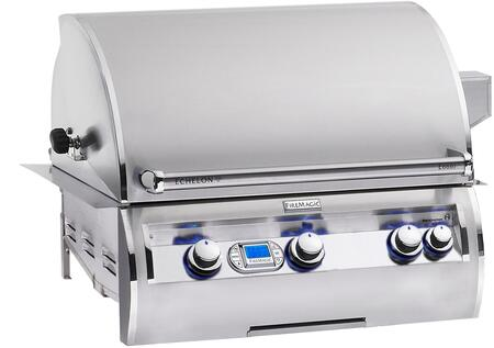 FireMagic E660I-4E1X Echelon Diamond Series Built In X Grill,660 sq. in. Cooking Area with Rotisserie Backburners and Stainless Cast E Burners: Stainless Steel
