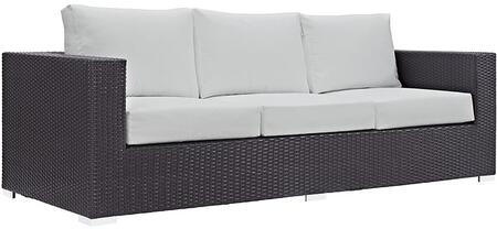 Modway EEI1844EXPWHI Espresso Finish Patio Sofa