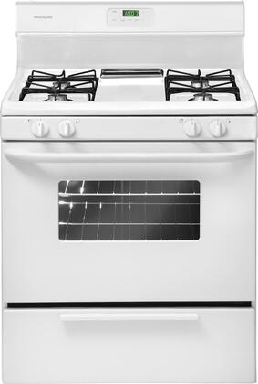 "Frigidaire FFGF3011LW 30""  White Gas Freestanding Range with Open Burner Cooktop, 4.2 cu. ft. Primary Oven Capacity, Broiler"