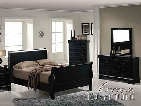 Acme Furniture 00424CK Louis Philippe Series  Sleigh Bed
