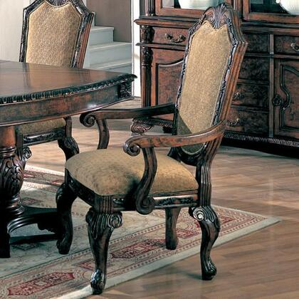 Coaster 100133 Saint Charles Series Traditional Fabric Wood Frame Dining Room Chair