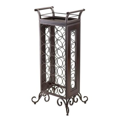 Winsome 87Silv Silvano Wine Rack with Removable Tray, Dark Bronze