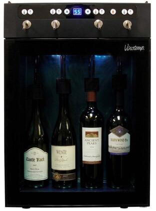 "Vinotemp VTWINEDISP4 16.5"" Freestanding Wine Cooler, in Brown"