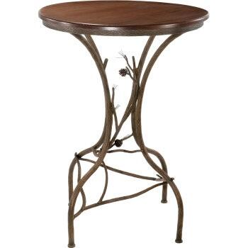 """Stone County Ironworks 904-085 Pine Bar Table 36"""""""