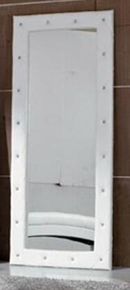 VIG Furniture VGKCMONTEWHTFLMIR Modrest Monte Carlo Series Rectangular Portrait Floor Mirror