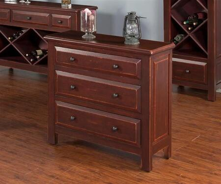 Bachelor Chest in Red