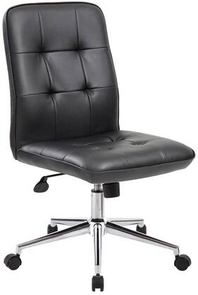"Boss B330 36"" Modern Office Chair with Upright Locking Position, Seat Height Adjustment, Adjustbale Tilt Tension Control, 27"" High Crown Chrome Base and Hooded Double Wheel Casters"
