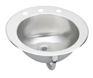 "Elkay LLVR19 Lustertone 19"" Top Mount Single Bowl Stainless Steel Bathroom Sink:"