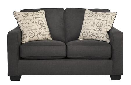 Milo Italia MI-3459CTMP Elisha Loveseat with 2 Print Patterned Pillows, Tapered Feet and Boxed Cushions in