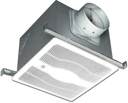 Air King ExDGH Two Speed Exhaust Fan with x CFM, Motion Sensor, Humidity Sensor, 23 Gauge Galvanized Steel Housing, and Polymeric Grill, in White