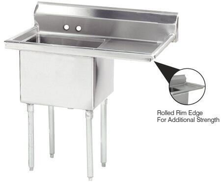 One Compartment Sink with Right Side Drainboard