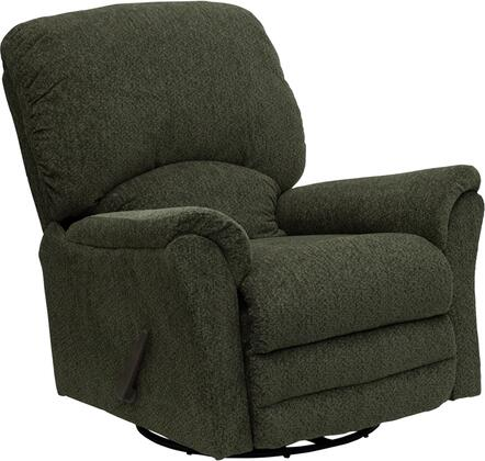 Flash Furniture AM92104727GG Contemporary Network Series Traditional Polyblend Wood Frame  Recliners