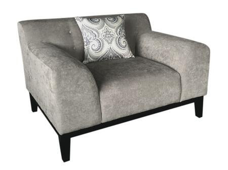 "Diamond Sofa Marquee MARQUEECHXX 46"" Tufted Back Chair with Attached Seat & Tufted Back Cushion, Accent Pillows and Hardwood Frame"