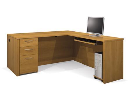 Bestar Furniture 60873 Embassy L-shaped workstation kit including assembled pedestal