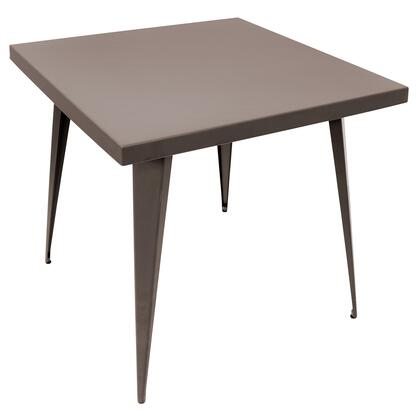 """LumiSource Austin DT-TW-AU3232 32"""" Dining Table with Matte Finish, Metal Frame and Tapered Legs in"""