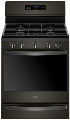 Whirlpool Wfg775h0hv 30 Inch Black Stainless Steel Gas Convection Freestanding Range