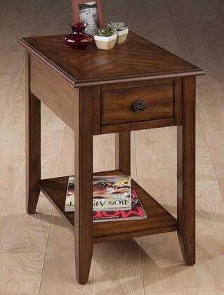 Jofran 10317 Medium Brown Series Transitional Rectangular 1 Drawers End Table