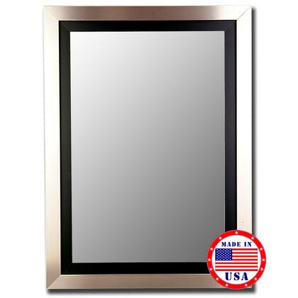 Hitchcock Butterfield 25780X Cameo Beveled Mirror In Silver Finish With Black Inlay