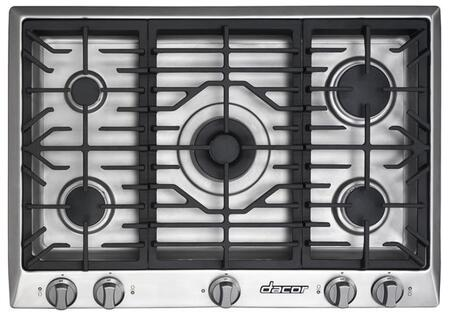 Dacor DCT305SNGH Distinctive Series Natural Gas Sealed Burner Style Cooktop, in Stainless Steel
