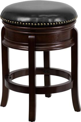 "Flash Furniture TA-68824- 24"" Backless Counter Height Stool with Swivel Seat, Protective Floor Glides and LeatherSoft Upholstery in"