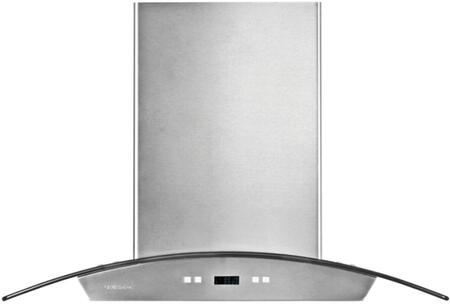 "Cavaliere 218 SV218D-I Island Range Hood With 900 CFM, Touch Sensitive LED Control Panel, 30 Hour Cleaning Reminder, Delayed Power Auto Shut Off, 6"" Round Duct Vent In Stainless Steel"