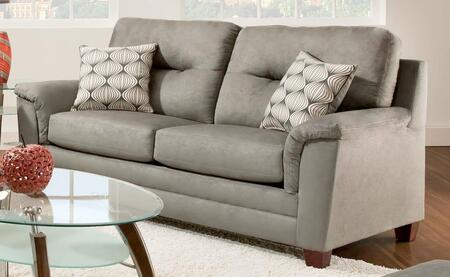 Chelsea Home Furniture 1810739335VLD Cable Series Stationary Polyester Sofa