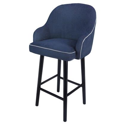 """New Pacific Direct Template: Terry Collection 1900088-157 33"""" Fabric Swivel Bar Stool in Denim Slate Blue"""