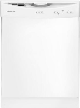 """Frigidaire FFBD2406NW 24"""" Built In Full Console Dishwasher with 14 Place Settings Place Settingin White"""
