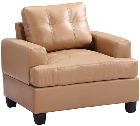 Glory Furniture G581AC Bycast Leather Armchair in Tan