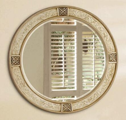 Yuan Tai BR4720M Bridgette Series Round Portrait Wall Mirror