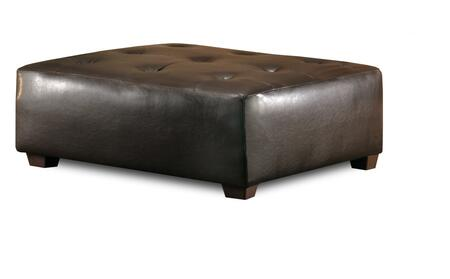 Chelsea Home Furniture 20355BR Modern Vinyl Wood Frame Ottoman