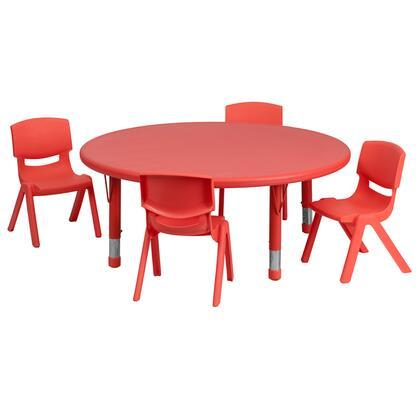 Flash Furniture YUYCX00532ROUNDTBLREDEGG