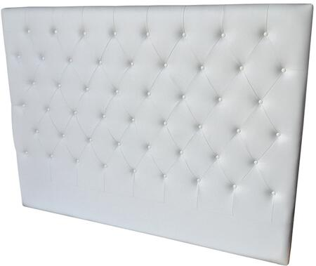 Casabianca Miles Collection King Size Bed Headboard with Button Tufting, Medium-Density Fiberboard (MDF) and Eco-Leather Upholstery in