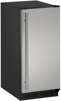 "U-Line U1215R00B 15"" Solid Door Refrigerator with 2.9 Cu. Ft. Capacity, Passive Cooling System, Digital Touch Pad Control, Field Reversible Door, Tempered Glass Shelves and LED Lighting, in"