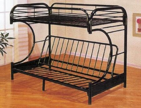 Yuan Tai 9709 Metal Twin over Full C-Shape Convertible Futon Bunk Bed