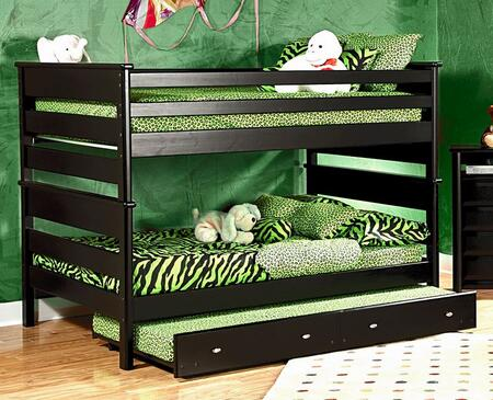Chelsea Home Furniture 3534524-4547-X Full Over Full Bunk Bed with Rustic Style, and All Pine Wood Construction in Black Cherry