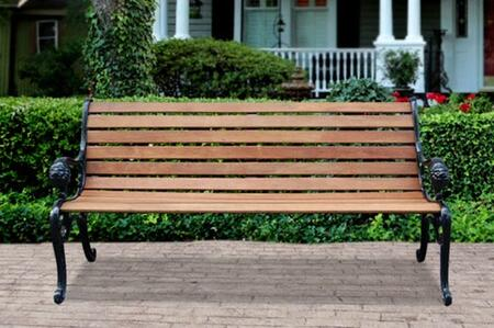 Vifah V1358 Picnic Metal Frame Armed Patio Benches