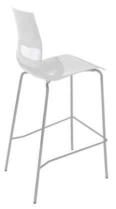 Domitalia GELASSG15SBI Gel Series Residential Not Upholstered Bar Stool