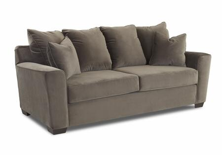 "Klaussner Heather Collection E56044-SC- 86"" Sofa with Track Arms, Welted Details, Two Arm Pillows and Polyester Fabric Upholstery in"
