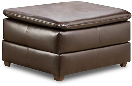 Simmons Upholstery 615909VINTAGERIVERSIDE Vintage Series Contemporary Bonded Leather Wood Frame Ottoman