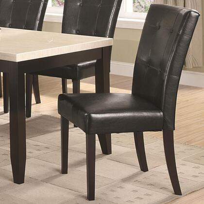 Coaster 102772 Anisa Series Contemporary Faux Leather Wood Frame Dining Room Chair