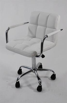 "Fine Mod Imports FMI9255WHITE 25"" Contemporary Office Chair"