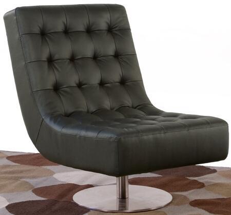 Diamond Sofa JAZZB Leather Lounge with Metal Frame in Black