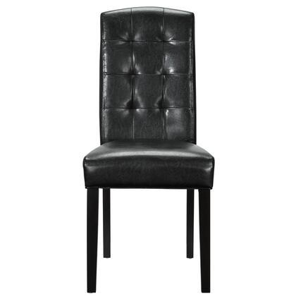 Modway EEI811BLK Perdure Series Modern Vinyl Wood Frame Dining Room Chair
