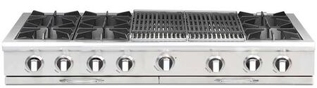 """Capital CGRT604BB2N 60"""" Culinarian Series Gas Open Burner Style Cooktop, in Stainless Steel"""