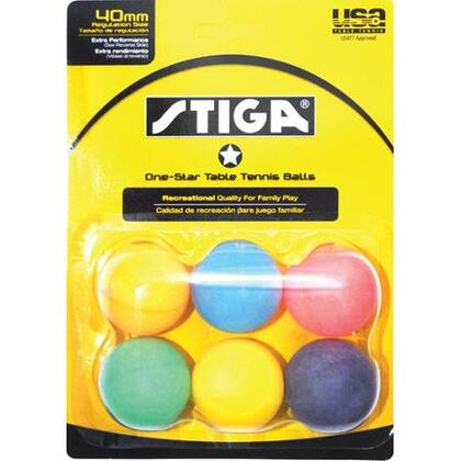 Stiga T14 Recreational Quality Family Play Tennis Table 6-Pack One-Star Balls