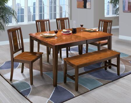 New Classic Home Furnishings 4015011TCCB Latitudes Dining Ro
