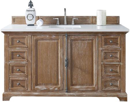 "James Martin Providence Collection 238-105-5311- 60"" Driftwood Single Vanity with Plantation Style Hardware, Two Soft Close Doors, Six Soft Close Drawers and"